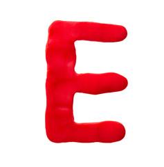 Plasticine letter E