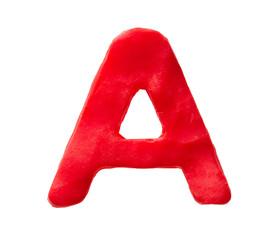 Plasticine letter A