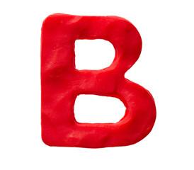 Plasticine letter B