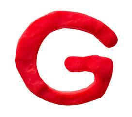 Plasticine letter G