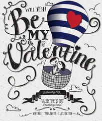 Valentine's Day Typography Art Poster