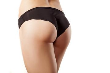 female buttocks in black panties