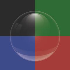 Vector bubble glass