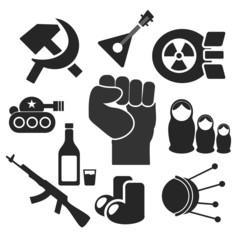 Russians web and mobile icons. Vector.