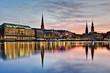 Leinwanddruck Bild - Alster in Hamburg