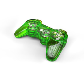 Green Transparent Game Pad
