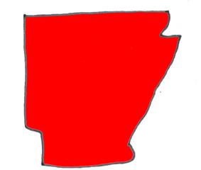 Akansas state map