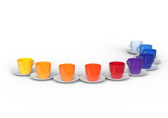 Coffee Cups in all pallete of colors