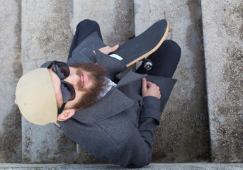 Guy with skateboard