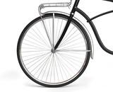 Front Wheel of Vintage Bicycle