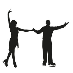 Vector silhouette of figure skating pair