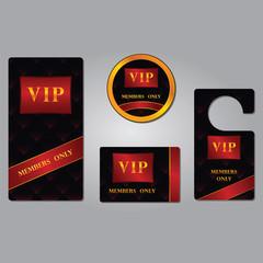 Vip members only premium platinum elegant cards design template