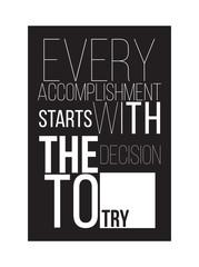Motivational poster for a good start