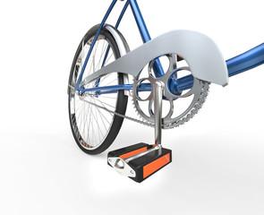 Vintage bicycle pedal - closeup