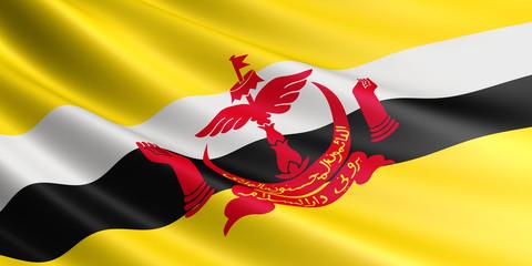 Flag of Brunei.