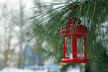 Decorative lantern hanging