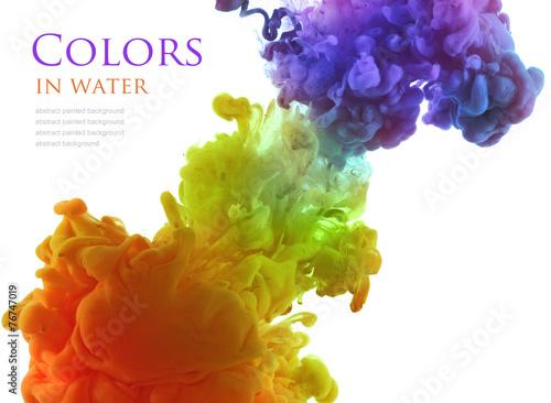 Fotobehang Kleuren in het water Acrylic colors in water. Abstract background.