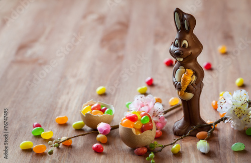 Chocolate Easter Bunny - 76747495