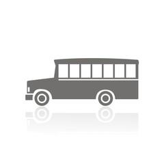 Icono bus school FB reflejo