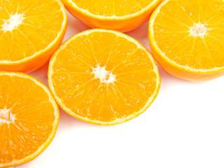 Mandarin orange slices, background.