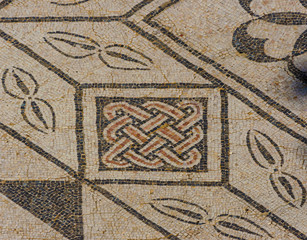 "Detail Roman mosaic the ancient Roman city ""Italica"". Spain"