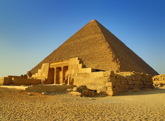 Mastaba and Great Pyramid in Egypt