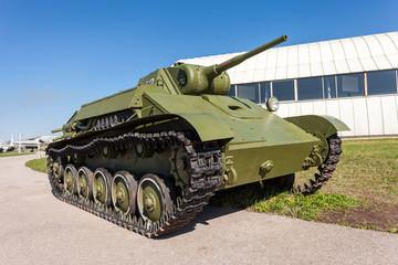 Old soviet light tank T-70