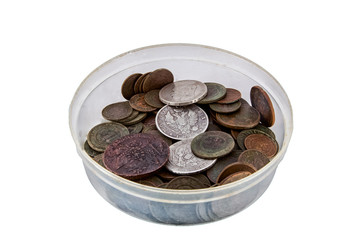 bowl with coins