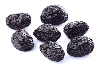 Prune on a white background