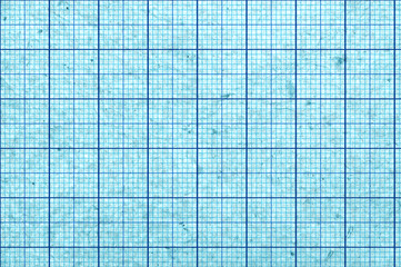 Blueish blank and grungy graph paper