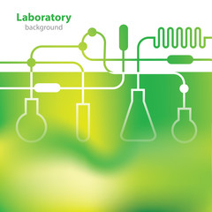 Science and Research - laboratory colorful background