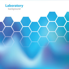 Science and Research - laboratory blue background