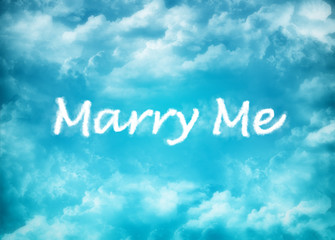 Marry Me cloud word