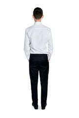 Business man standing back