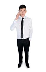 Business man talking phone