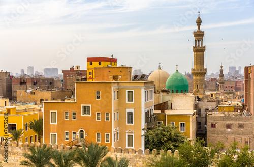 Poster Egypte Mosque of El-Sayeda Fatima El-Nabawaya in Cairo - Egypt