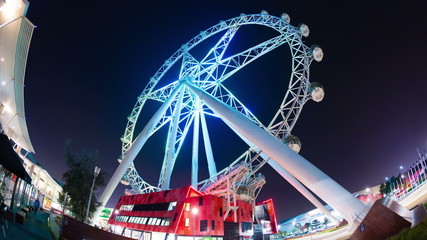 Timelapse video of the Melbourne Star Ferris wheel in Melbourne