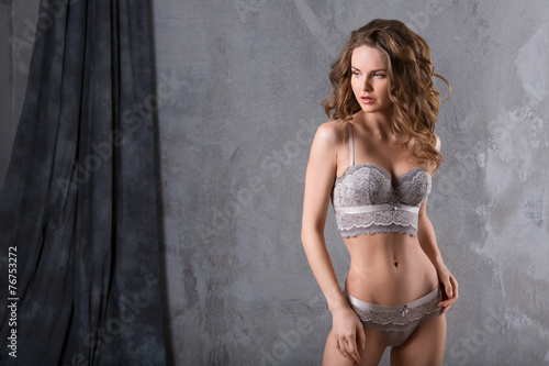 Fotobehang Akt Portrait of a sexy woman in lingerie