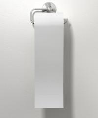 Toilet Roll On Chrome Hanger