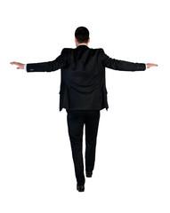 Business man walk risky