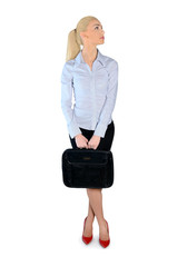 Business woman side view