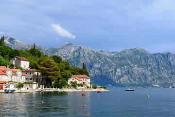 Coast Bay of Kotor near town Perast in Montenegro