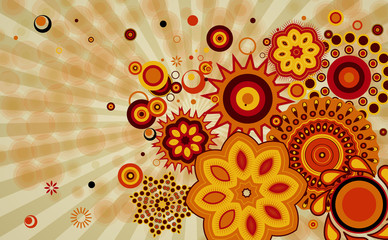 Abstract  background with different design shapes.