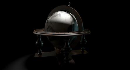 Vintage Wooden World Globe