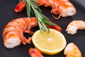 Fresh boiled shrimps