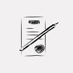 Sketch icon document