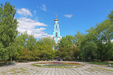Belfry of Ascension Church in Yekaterinburg, Russia
