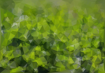 polygons nettle green background