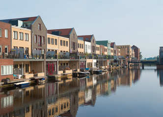 row of canal houses