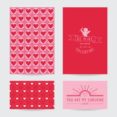 Valentine's Day Card Set  - in vector